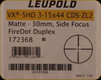 Leupold - VX-5HD - 3-15x44 CDS-ZL2 - Side Focus Illuminated Firedot DPX - Matte - 172368