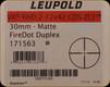Leupold - VX-6HD - 2-12x42 - CDS-ZL2 FireDot Duplex - Matte - 171563