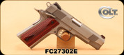 "Consign - Colt - 45ACP - Combat Commander - Wood grips/Brushed Stainless, 4.25""Barrel, c/w 2 holsters, spare mag"