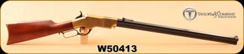 "Used - Taylor's & Co - 44-40WCF - Henry 1860 - Walnut/Brass Receiver/Blued, 24.25"" Octagonal Barrel"