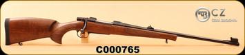 "CZ - 6.5x55Swedish - Model 550 Lux - Turkish Walnut, European-Style/Blued, 24""Barrel, 1:8.7, 5rd fixed magazine, S/N C000765"