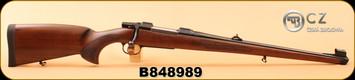 "CZ - 30-06Sprg - Model 550 FS - Turkish Walnut, Bavarian-style Mannlicher stock/Blued, 20""Barrel, 1:10, 5rd fixed magazine, S/N B848989"