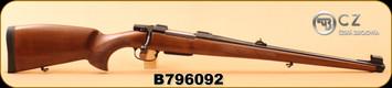 "CZ - 243Win - Model 550 FS - Turkish Walnut, Bavarian-style Mannlicher stock/Blued, 20""Barrel, 1:10, 4rd magazine, S/N B796092"