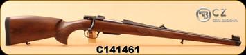 "CZ - 308Win - Model 550 FS - Turkish Walnut, Bavarian-style Mannlicher stock/Blued, 20""Barrel, 1:12, 4rd magazine, S/N C141461"