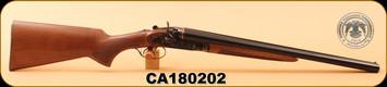 "Huglu - 12Ga/3""/20"" - 201HRZ - SxS - Turkish Walnut/Case Hardened/Blued Barrel - M.Choke, S/N CA180202"