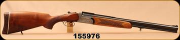 "Consign - Antonio Zoli - 12Ga/222Rem/3""/23.5"" - O/U Rifle & Shotgun Combo - Walnut/Engraved Receiver/Blued, Double Set trigger"