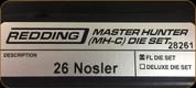 Redding - Master Hunter Die Set - 26 Nosler - 28261