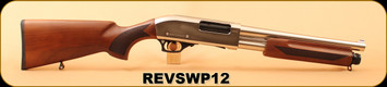 "Revolution Armory - 12Ga/3""/13"" - SWP12 - Pump Action - Turkish Walnut/Stainless,  3 Mobile Chokes ( F, M, IC)"