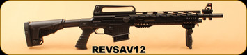 "Revolution Armory - 12Ga/3""/18.5"" - SAV12 - Semi-Auto - Matte Black Synthetic/Anodized, 3 Mobile Chokes ( F, M, IC)"