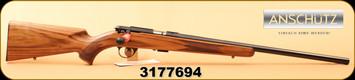 "Anschutz - 22LR - Model 1710 HB Classic - Walnut/Blued, 23""Barrel, MFG# 013297, S/N 3177694"