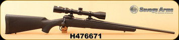 """Consign - Savage - 22-250Rem - Model 11 - Black Synthetic/Blued, 22""""Barrel, c/w Bushnell 3-9x40 Duplex - very low rounds"""