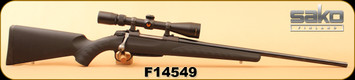 "Consign - Sako - 308Win - A7S Synthetic - Black Synthetic/Blued, 22""Barrel, c/w Nikon Prostaff 3-9x40, Duplex - Low rounds"
