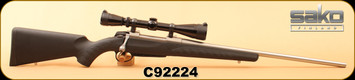 """Consign - Sako - 270Win - A7M Synthetic Stainless - Black Synthetic/Stainless, 22""""Barrel, c/w Leupold VX1 3-9x40, Duplex - Low rounds"""