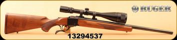 "Consign - Ruger - 22-250 - No.1V Varminter - Walnut/Blued, 24"" Heavy Barrel, c/w Simmons 6-18x50, Duplex"