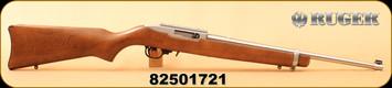 "Consign - Ruger - 22LR - 10/22 Carbine - Hardwood/Stainless, 18.5"" Barrel, c/w Scope rail"