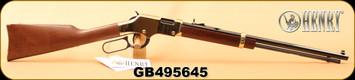 "Used - Henry - 22LR - Golden Boy - Lever Action Rifle - Walnut Stock/Brasslite Receiver/Blued, 20"" Octagon Barrel, 16 Rounds, Semi-Buckhorn Rear Sight - Unfired in original box"