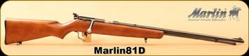 """Consign - Marlin - 22LR - Model 81D - Wd/Bl, 24""""Barrel"""