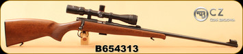 "Consign - CZ - 22LR - Model 452-2E ZKM - Wd/Bl, 25""Barrel, c/w Simmons 3-9x32 WA/AO 22 MAG Riflescope - Only 20rds"