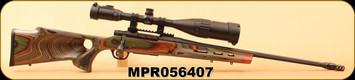 "Consign - Mossberg - 308Win - Patriot Night Train II - Ripple Forest Camo Laminate Boyd Stock/Bl, 22""Threaded,fluted barrel w/muzzle brake, c/w UTG 6-24x50 AO True Hunter, EZ-TAP, Ill. Mil-Dot Reticle, factory stock"