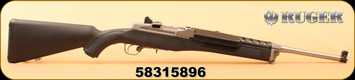 """Consign - Ruger - 5.56NATO - Mini-14 Ranch Rifle - BlkSyn/Stainless, 18.5"""" Barrel, c/w Additional ATI Stock, Stripper Clips, (2) 5rd mags"""