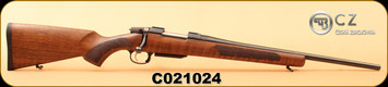 "CZ - 308Win - Model 557 Sporter - Short Action - Turkish Walnut/Blued, 20.5""Barrel, Detachable Mag, Adjustable Trigger, MFG# 04805 - S/N C021024"