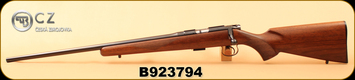 "CZ - 22LR - 452 American - Left Hand - Turkish Walnut/Blued, 22.5""Barrel, 5rd Detachable Magazine, Integrated 3/8""Dovetail, MFG# 02017, S/N B923794"