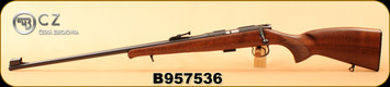 "CZ - 22LR - 452 LUX - Left Hand - Turkish Walnut/Blued, 24.8""Barrel, 5rd Detachable Magazine, S/N B957536"