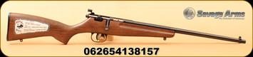"Savage - 22LR - Rascal - Bolt Action Youth Rifle - Hardwood/Blued, 16.1""Barrel, AccuTrigger"