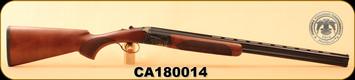 "Huglu - 28Ga/2.75""/26"" - 103D - O/U, Turkish Walnut/Blued, Case Hardened Receiver, M.Choke, SKU# 8681744307451, S/N CA180014"