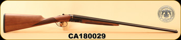 "Huglu - 410Ga/3""/26"" - 202B - Turkish Walnut English Stock/Case Hardened Receiver/Blued Barrel, SKU# 8681715394770, S/N CA180029"
