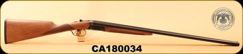 "Huglu - 28Ga/3""/26"" - 202B - Turkish Walnut English Stock/Case Hardened Receiver/Blued Barrel, M.Choke, S/N CA180034"