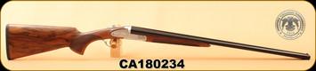 """Huglu - 28Ga/2.75""""/26"""" - 200AC - Turkish Walnut/Silver Receiver w/Gold inlay/Blued Barrel, S/N CA180234"""