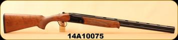"Used - Stevens - 20Ga/3""/26"" - Model 555 - O/U, Walnut/Blued Finish, Ventilated rib with brass bead sight, c/w chokes, owner's manual"
