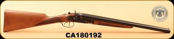 "Huglu - 12Ga/3""/20"" - 201HRZ - Turkish Walnut/Blued barrel/Case Hardened, HRZ Hammer, English Stock, S/N CA180192"