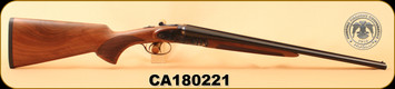 "Huglu - 410/3""/20"" - 201A - SxS - Turkish Walnut/Case Hardened Receiver/Trigger Guard/Blued Barrel, S/N CA180221"
