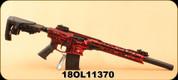 """Derya - 12Ga/3""""/20"""" - MK-12 AS-106S - Canadian Edition - Semi-Auto Shotgun - Blurred Red w/ White Maple Leaf, Synthetic Stock, AR Flip Up Sights, Barrel Shroud, 3 Mobil Choke"""