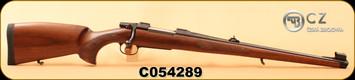 "CZ - 30-06Sprg - Model 550 FS - Turkish Walnut, Bavarian-style Mannlicher stock/Blued, 20""Barrel, 1:10, 5rd fixed magazine, S/N C054289"
