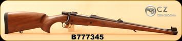 "CZ - 9.3x62 - Model 550 Medium FS - Bavarian-style Mannlicher Turkish Walnut/Blued, 20.5"" Barrel, 5rd fixed magazine, 1:14"", S/N B777345"