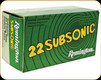 Remington - 22 LR - 38 Gr - Subsonic - Hollow Point - 50 ct - 21140