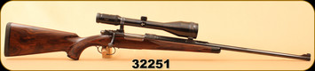 "Consign - Klaus Hiptmayer - 308NormaMag - Custom Engraved - Walnut/Blued, 26""Barrel, double trigger, c/w Swarovski Habicht 3-12x56, #4 Reticle"