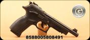 "Grand Power - 22LR - Model K22 TS6 - Semi-Auto Pistol - Black, 6""Threaded Barrel, ELLIASON rear sight, fibre-optic front sight, Interchangeable Backstrap"