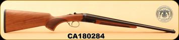 "Huglu - 410/3""/20"" - Turkish Walnut/Case Hardened Receiver/Trigger Guard/Blued Barrel, 5pc Mobile Choke, S/N CA180284"
