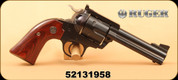 """Consign - 44Spec - Blackhawk Bisley Flattop - Rosewood Grips/Stainless Hammer/Blued Finish, 4.6""""Barrel, 25 rounds only - In Ruger hard plastic case"""