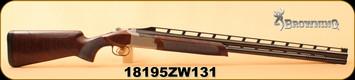 "Consign - Browning - 12Ga/3""/30"" - Citori 725 High Rib Sporting - O/U - Walnut/Polished Blued, Adjustable Comb, c/w 5 Browning chokes, 2 Briley Skeet Chokes, in original box w/ factory accessories"