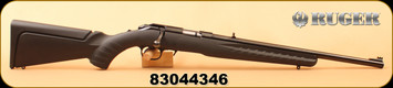 """Used - Ruger - 22WMR - American Rimfire Compact - Black Synthetic/Satin Blued, 18""""Barrel"""