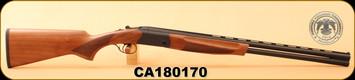 "Huglu - 20Ga/3""/26"" - Eagle S - Turkish Walnut/Black Receiver/Blued Barrel, 5pcs Mobile Choke, S/N CA180170"
