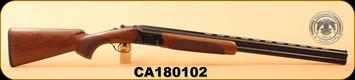 "Huglu - 12Ga/3""/28"" - 103D - O/U - Turkish Walnut/Case Hardened Receiver/Blued, 5pcs. Mobile Choke, SKU# 8681715394732, S/N CA180102"