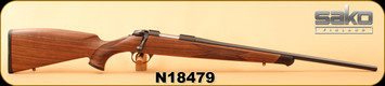 "Sako - 222Rem - Bavarian - 83XS - Bavarian style Matte oil walnut stock/Blued, 22.4""Barrel, Sako 85 tapered dovetail rail, S/N N18479"