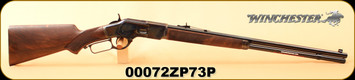"""Winchester - 44-40Win - Model 1873 Deluxe Sporter - Lever Action Rifle - Grade V Walnut Stock/Color Case/Blued Finish, 24""""Barrel, 14 Rounds, S/N  00072ZP73P"""
