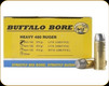 Buffalo Bore - Heavy 480 Ruger - 370 Gr - LBT Lead Flat Nose - 20ct - 13A